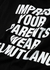 Impress black printed cotton T-shirt - Helmut Lang
