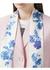 Floral and monogram print silk skinny scarf - Burberry