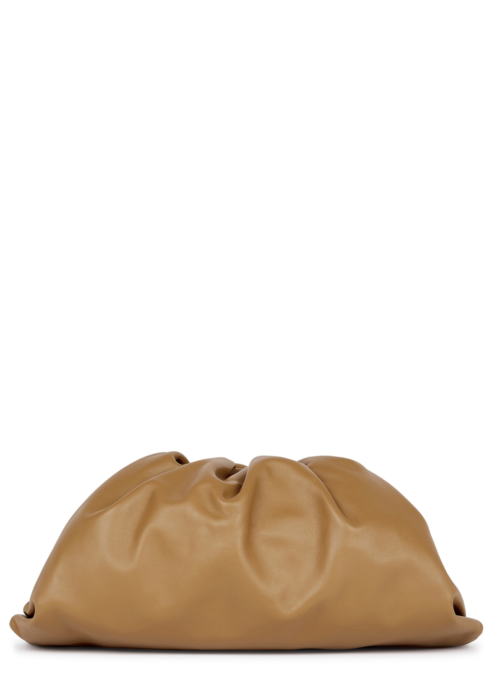 The Pouch camel leather clutch