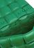 The Chain Cassette green leather cross-body bag - Bottega Veneta