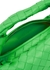 Jodie Intrecciato mini green leather top handle bag - Bottega Veneta