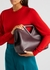 Point plum leather clutch - Bottega Veneta