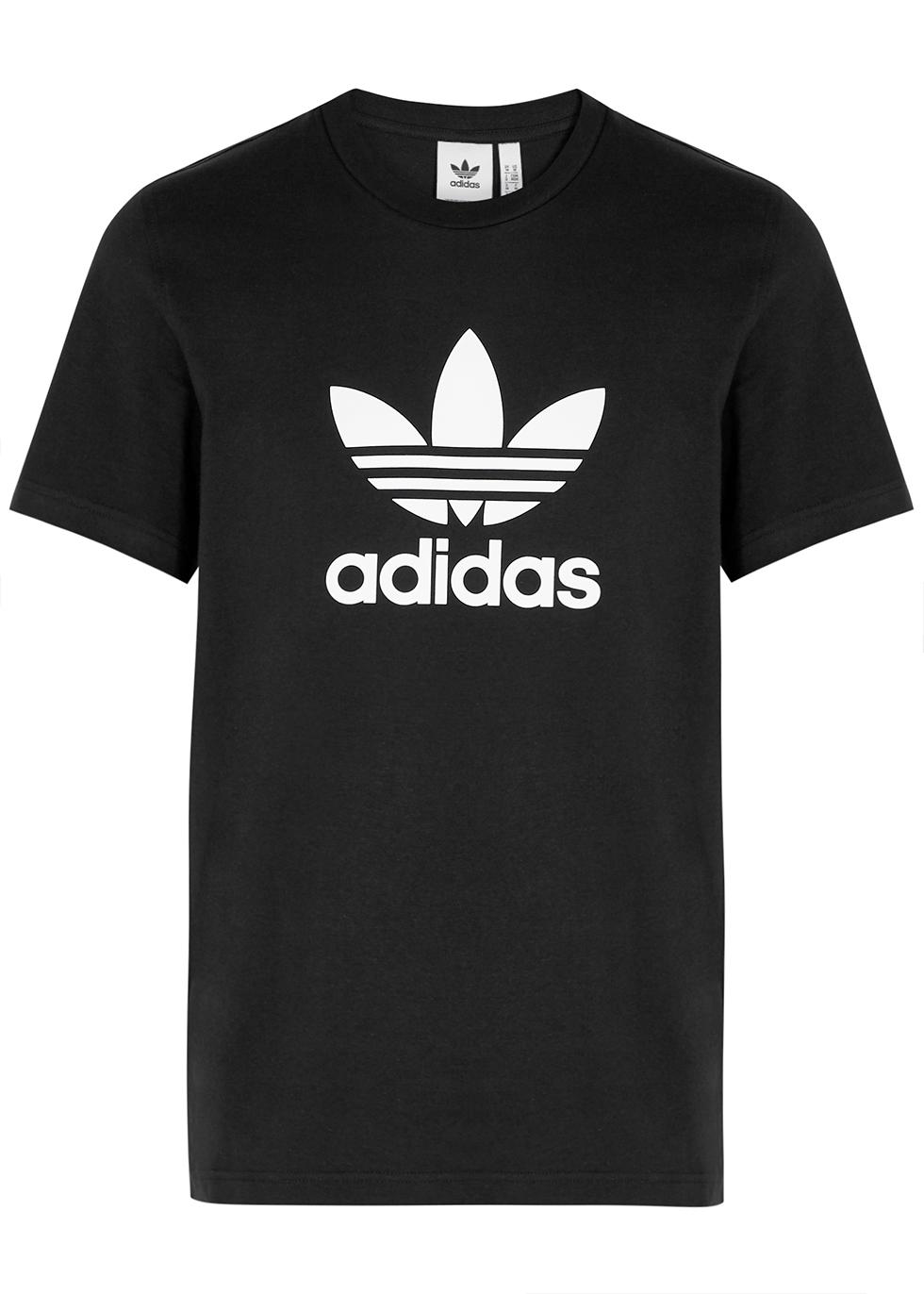 Black logo-print cotton T-shirt