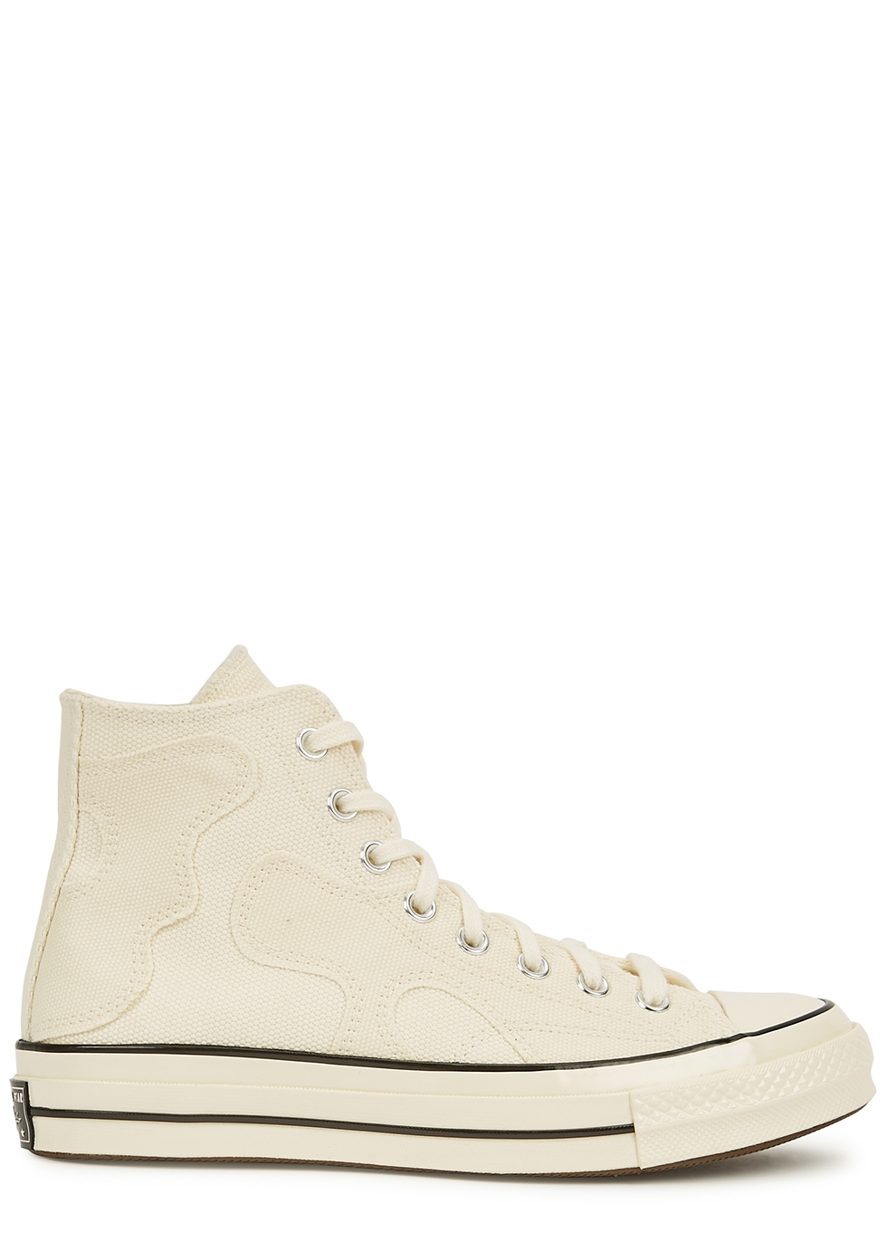 Chuck 70 cream canvas hi-top sneakers