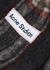 Vally checked alpaca-blend scarf - Acne Studios