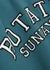 Iris blue logo cotton sweatshirt - ROTATE Sunday