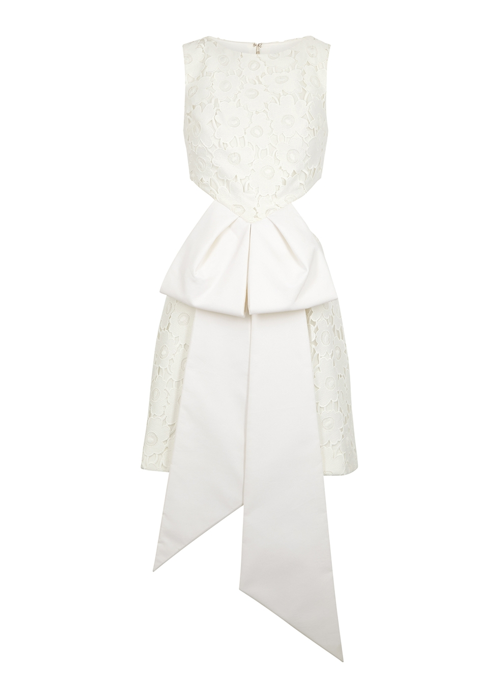 White cut-out guipure lace playsuit