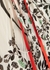 Cream floral-print chiffon midi dress - Victoria, Victoria Beckham