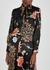 Floral-print satin-twill blouse - Victoria, Victoria Beckham