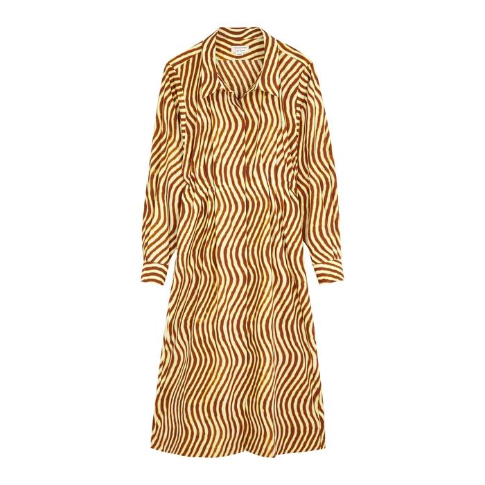 Dries Van Noten DARLO PRINTED COTTON SHIRT DRESS