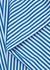 Striped poplin tunic top - Plan C