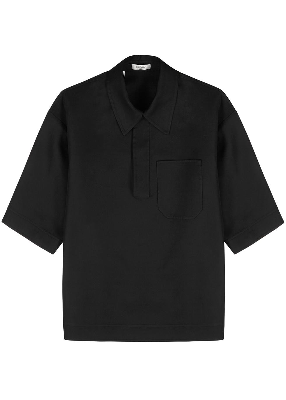 Black twill shirt