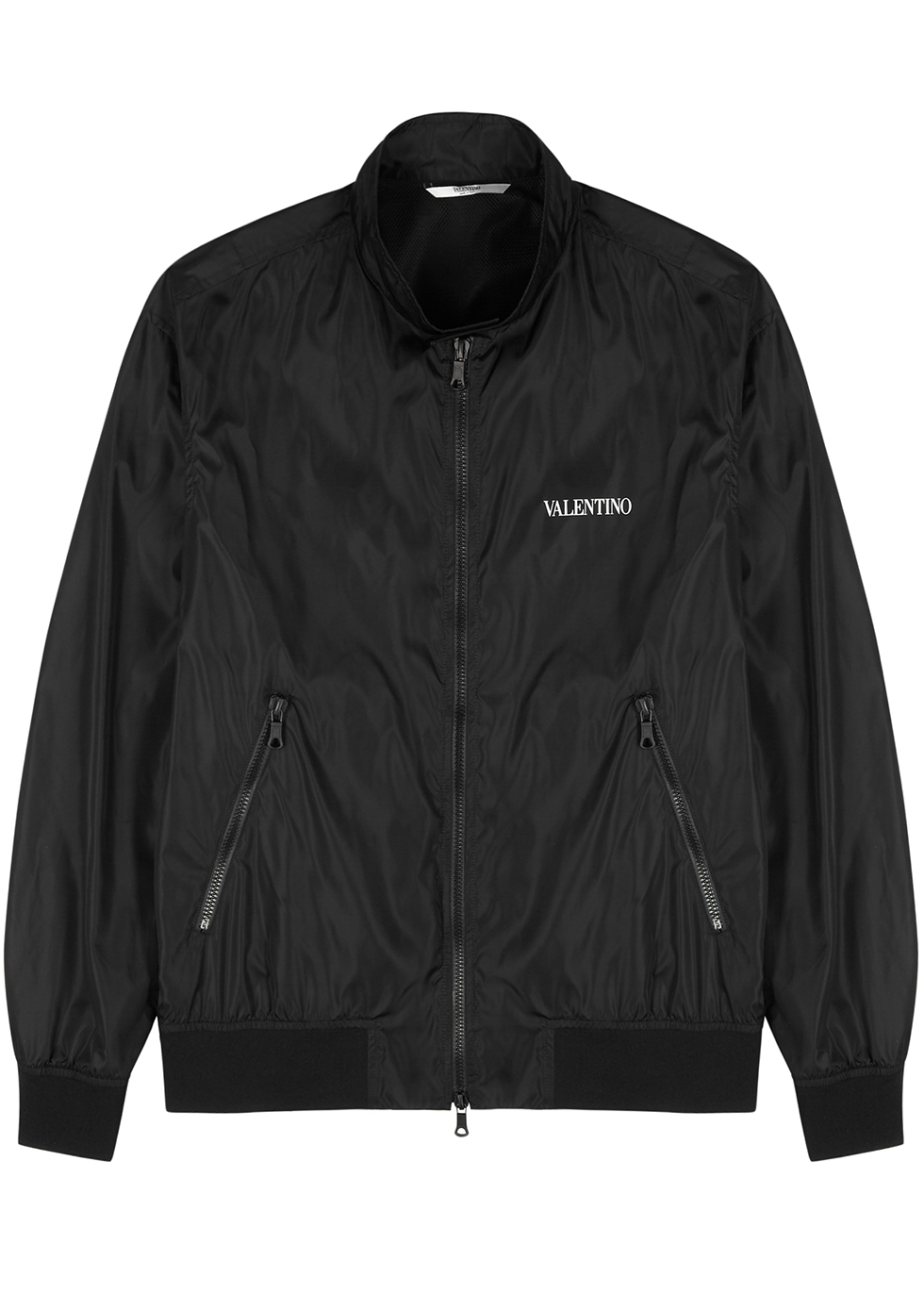 Black shell bomber jacket