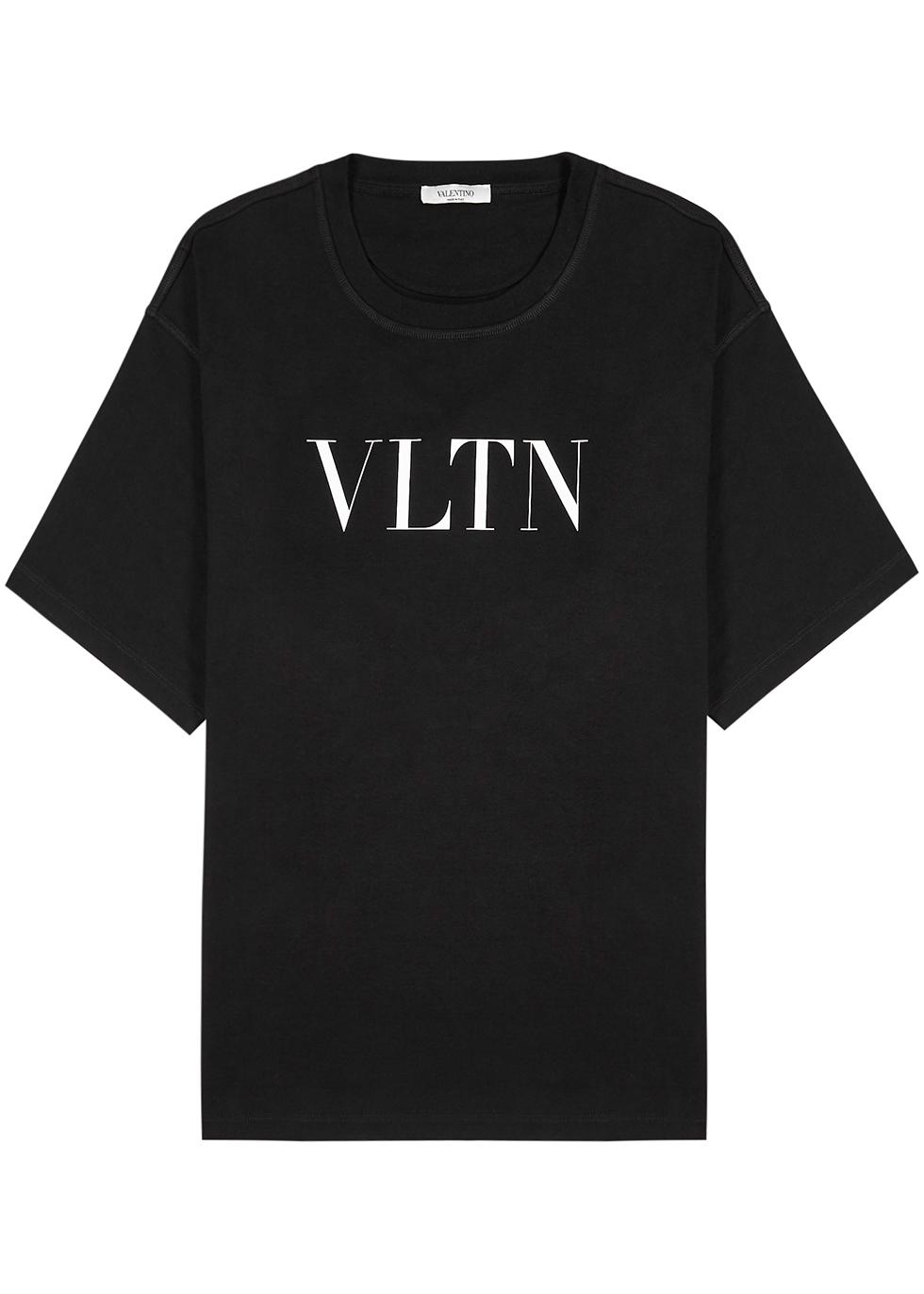 VALENTINO VLTN BLACK COTTON T-SHIRT