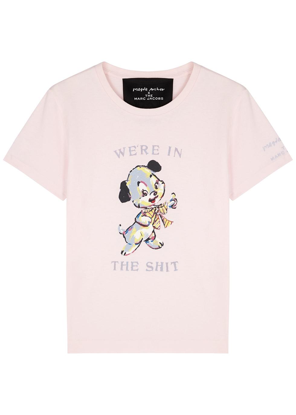 X Magda Archer printed cotton T-shirt