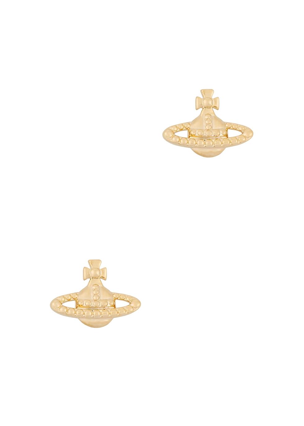 Farah silver-tone stud earrings