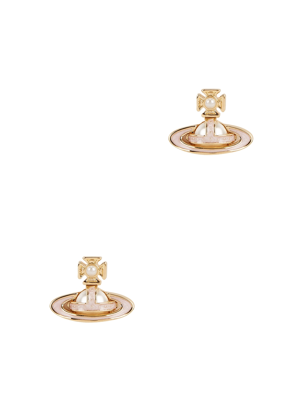 Simonetta Bas Relief gold-tone stud earrings