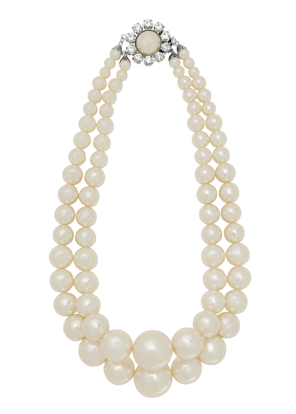 Embellished faux pearl necklace
