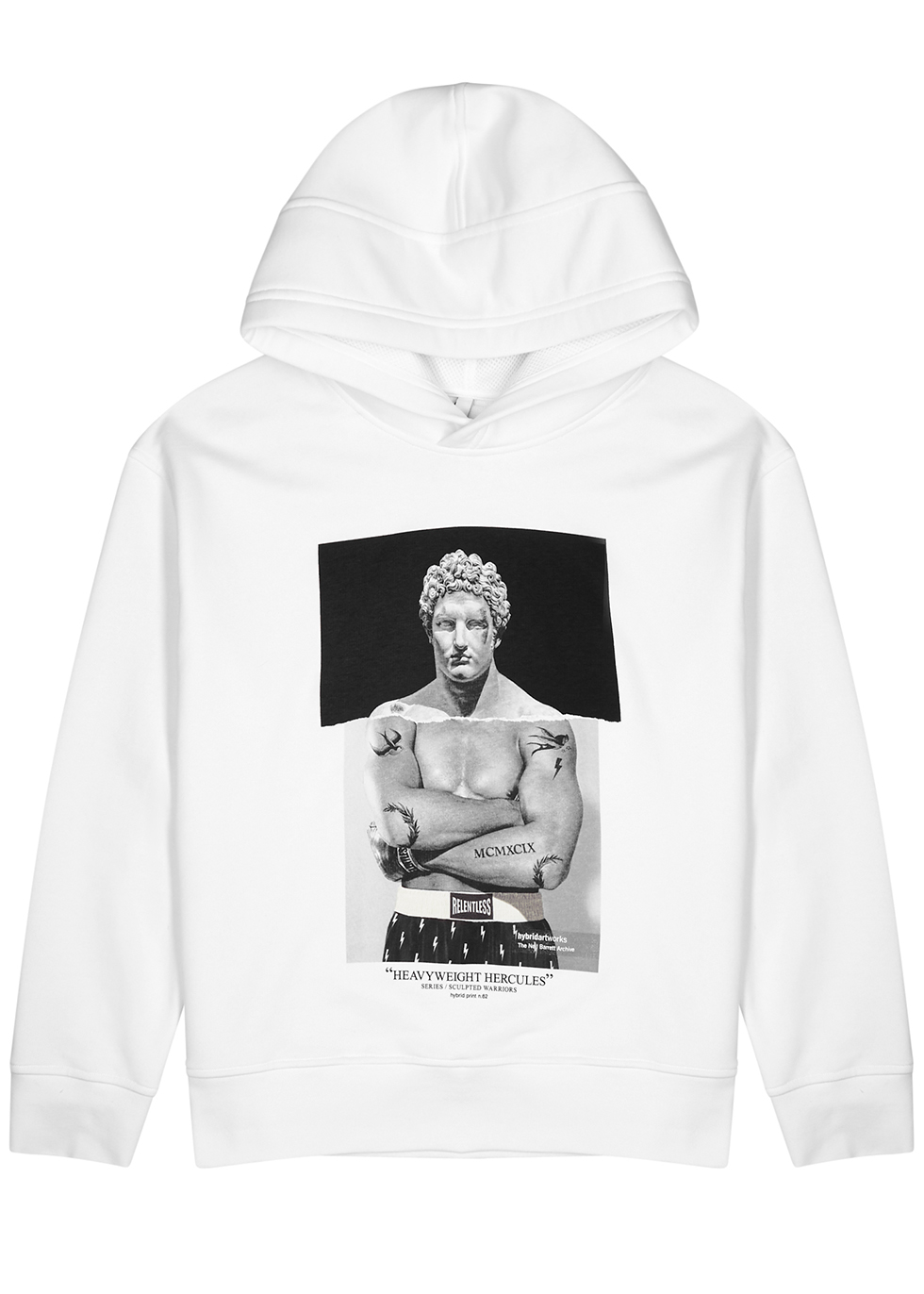Heavyweight Hercules hooded cotton-blend sweatshirt