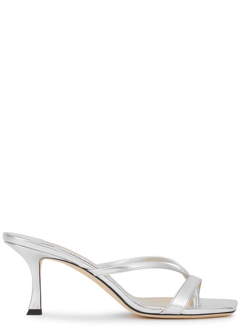 Maelie 70 silver leather mules