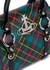 Betty small tartan-print faux leather top handle bag - Vivienne Westwood
