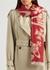 Paris logo-intarsia wool-blend scarf - Vivienne Westwood