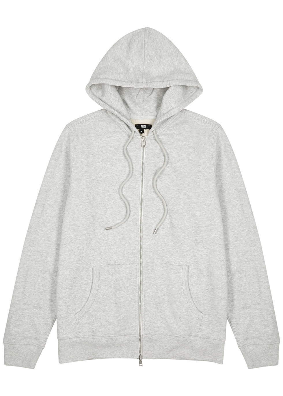 Ruder grey hooded cotton sweatshirt