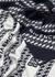 Navy logo-intarsia wool scarf - Givenchy