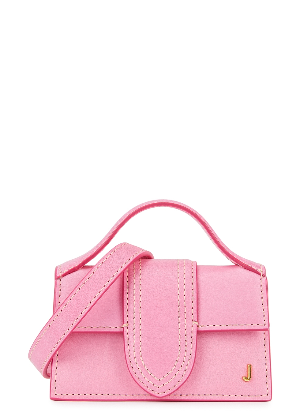 Le Petit Bambino pink leather cross-body bag