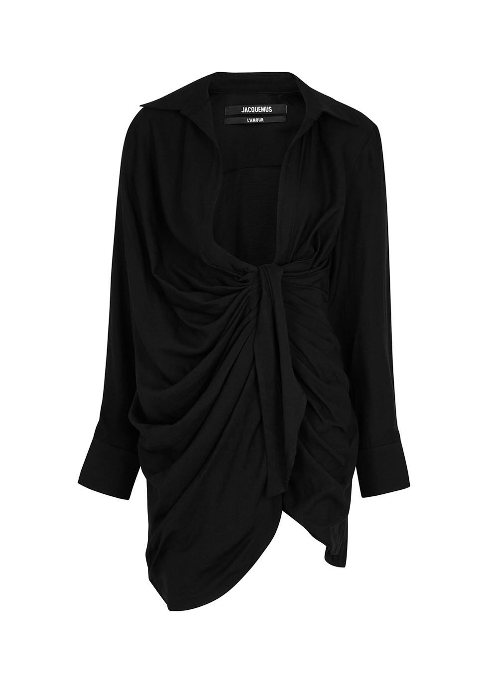 La Robe Bahia black twill mini dress