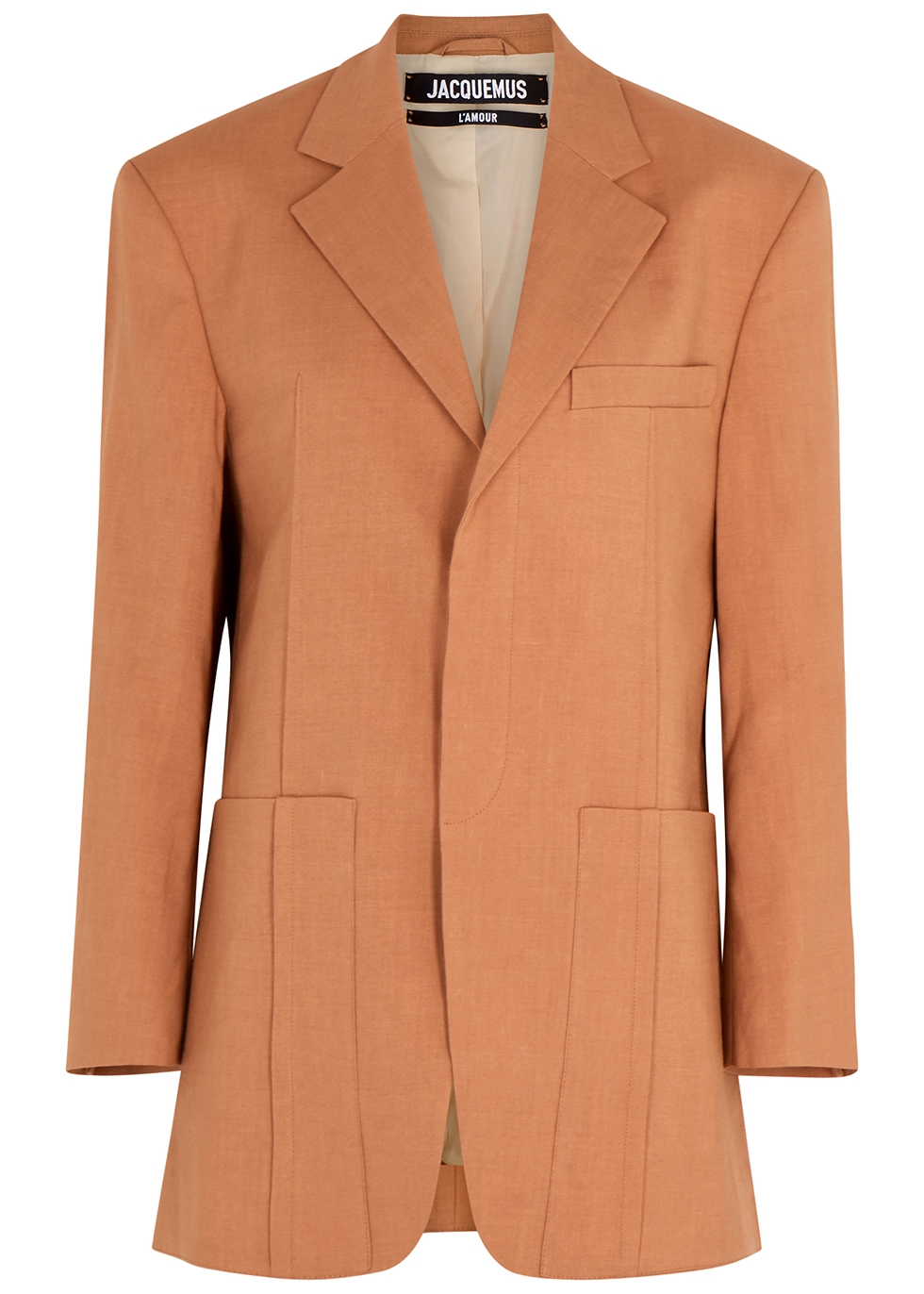 La Veste D'Homme terracotta blazer