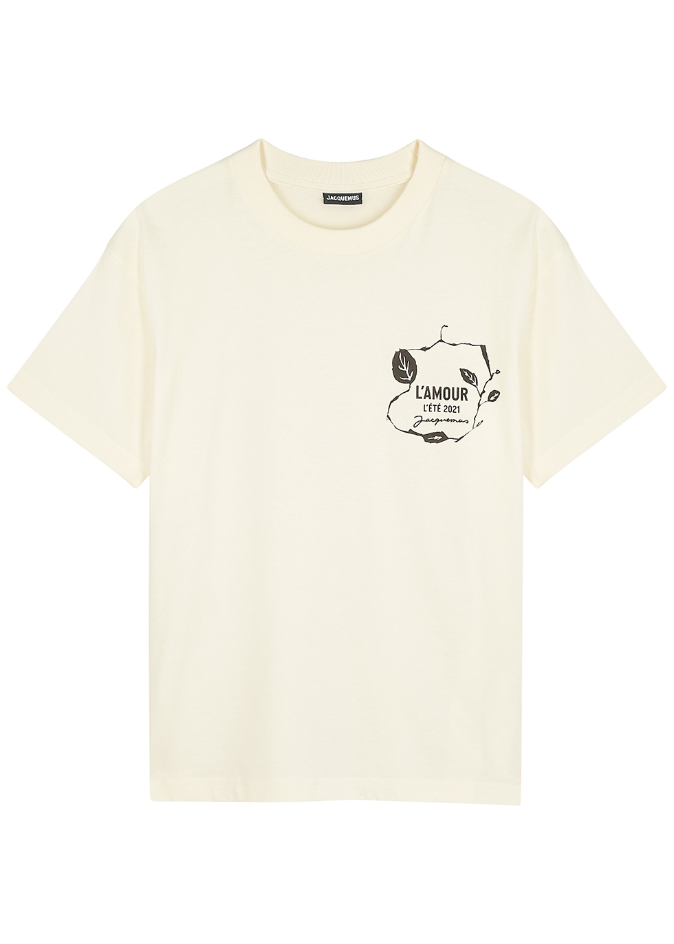 Le T-shirt L'Amour cream cotton T-shirt