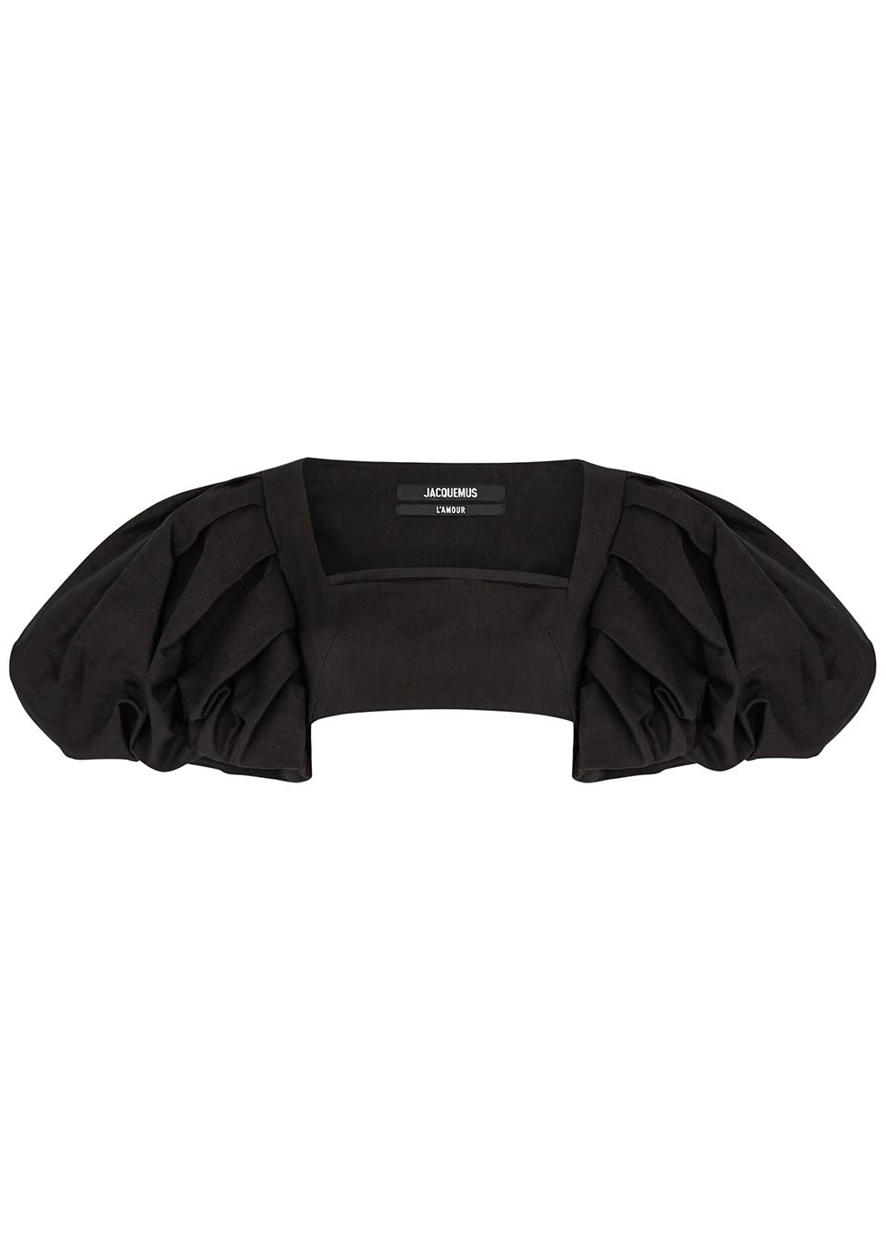 Le Haut Camargue black cropped top