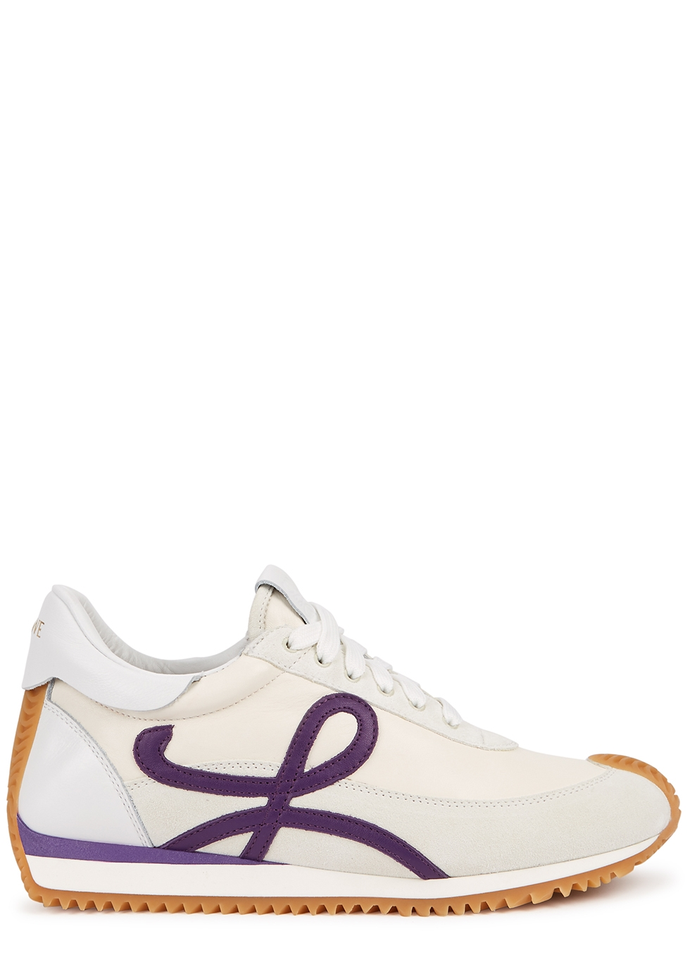 Flow Runner panelled leather sneakers