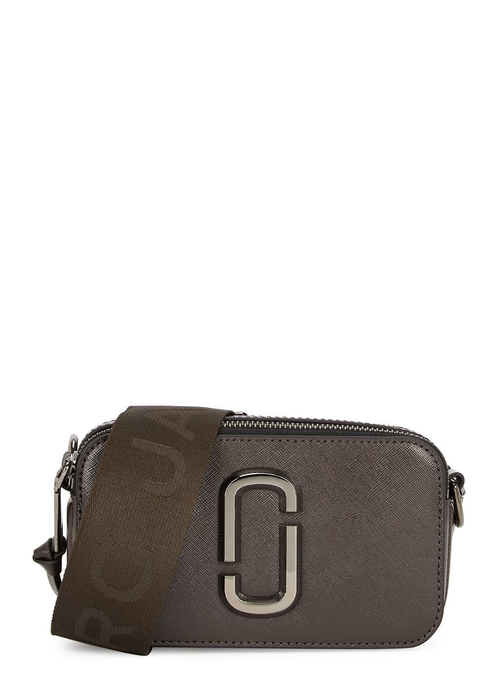 The Snapshot dark brown leather cross-body bag
