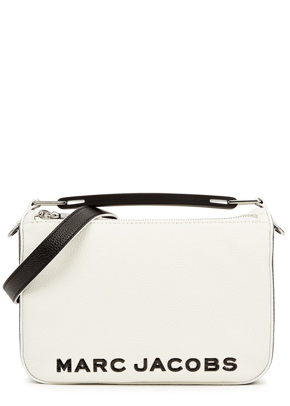 The Soft Box 23 white leather cross-body bag