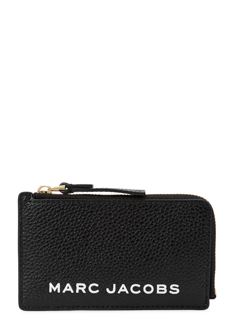 The Bold Small black grained leather wallet