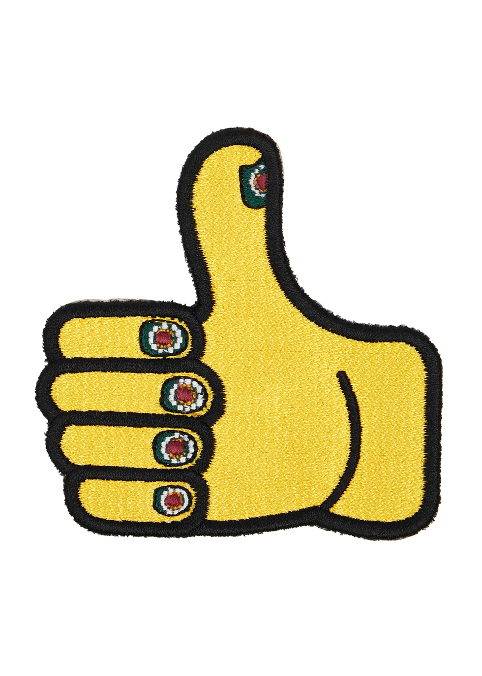 The Thumbs Up embroidered patch