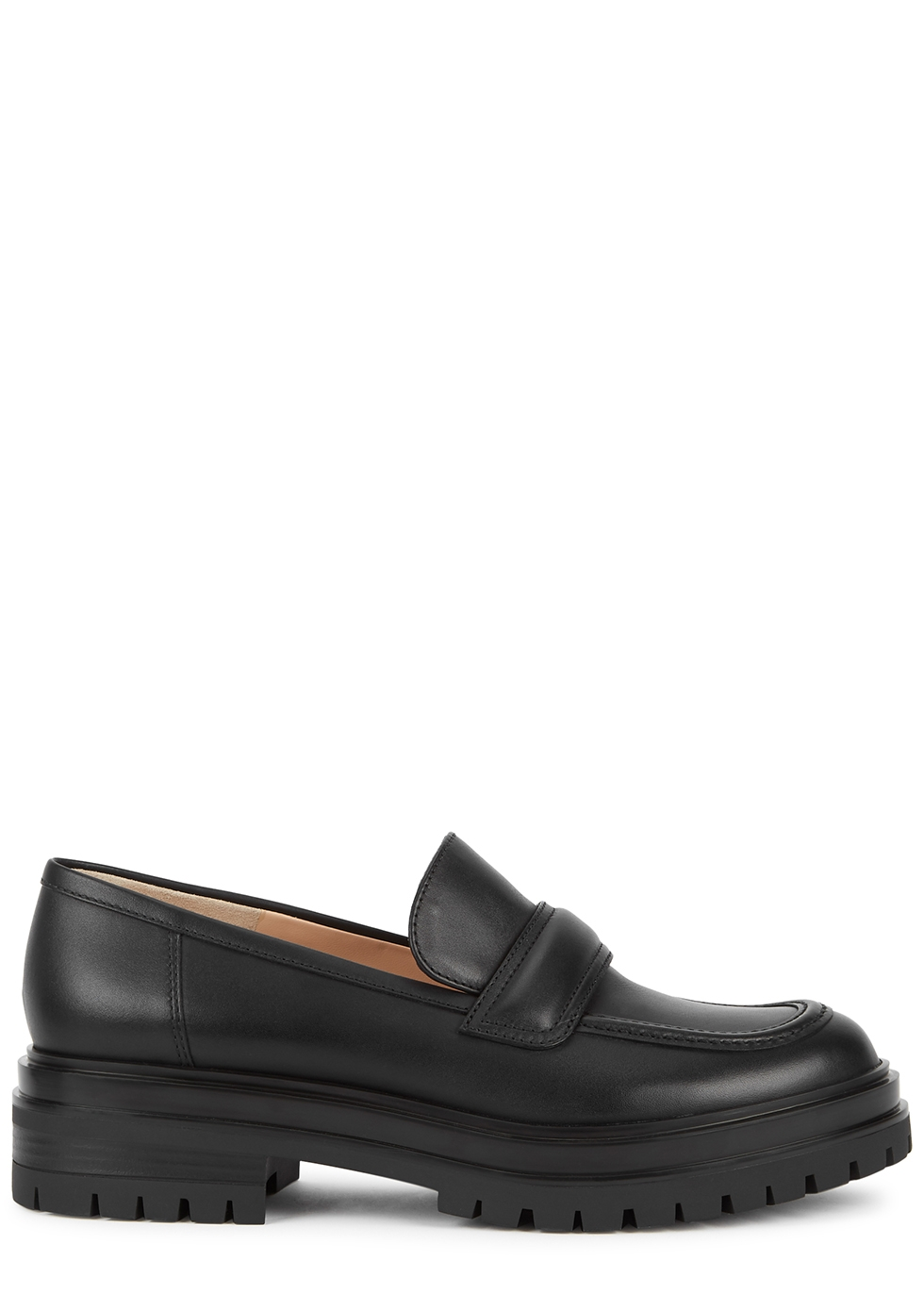 Argo 40 black leather loafers
