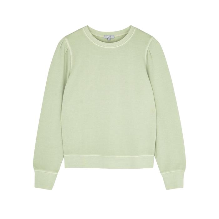 Rails Sweatshirts MARCIE MINT COTTON-BLEND SWEATSHIRT