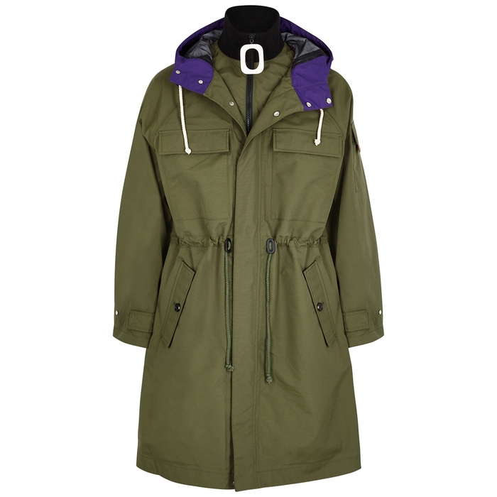 Jw Anderson ARMY GREEN SHELL PARKA