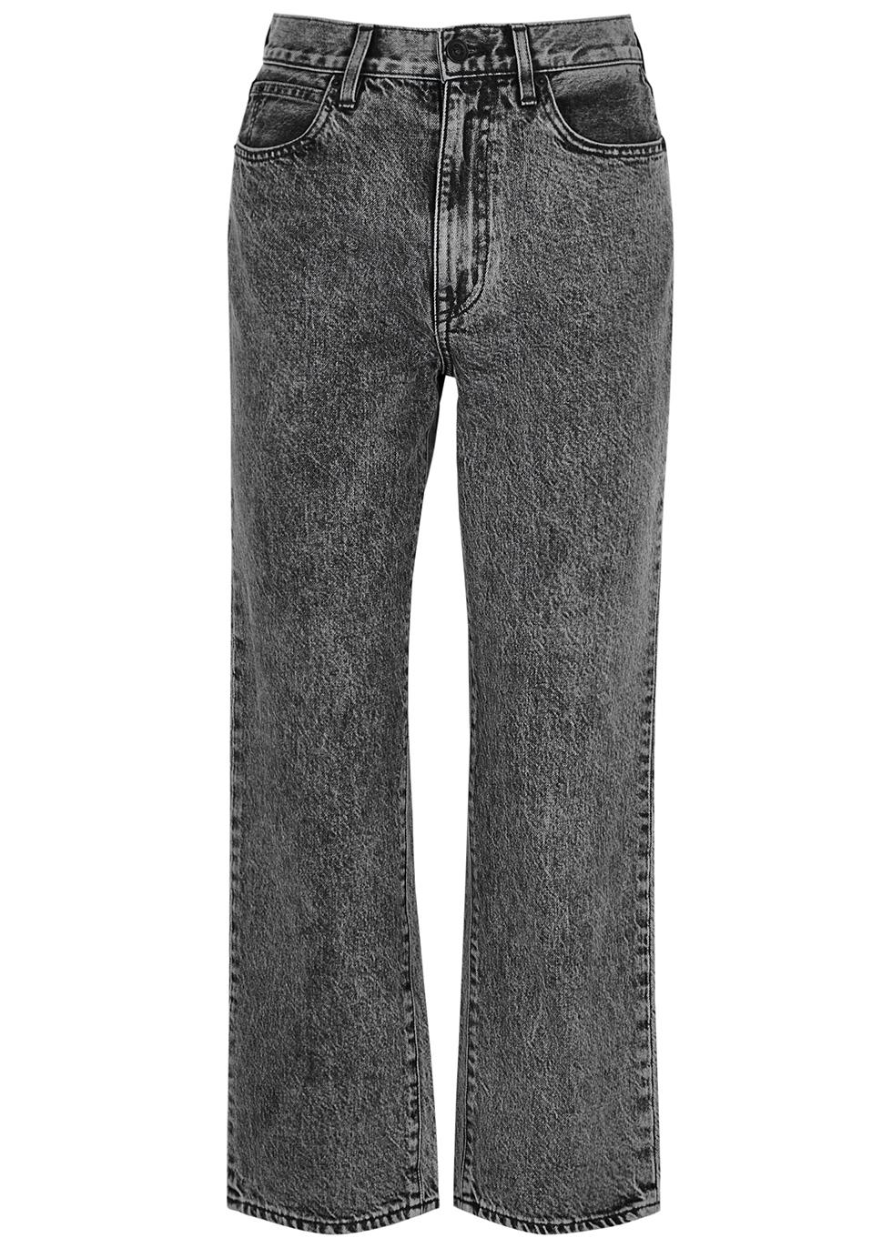 London grey straight-leg jeans