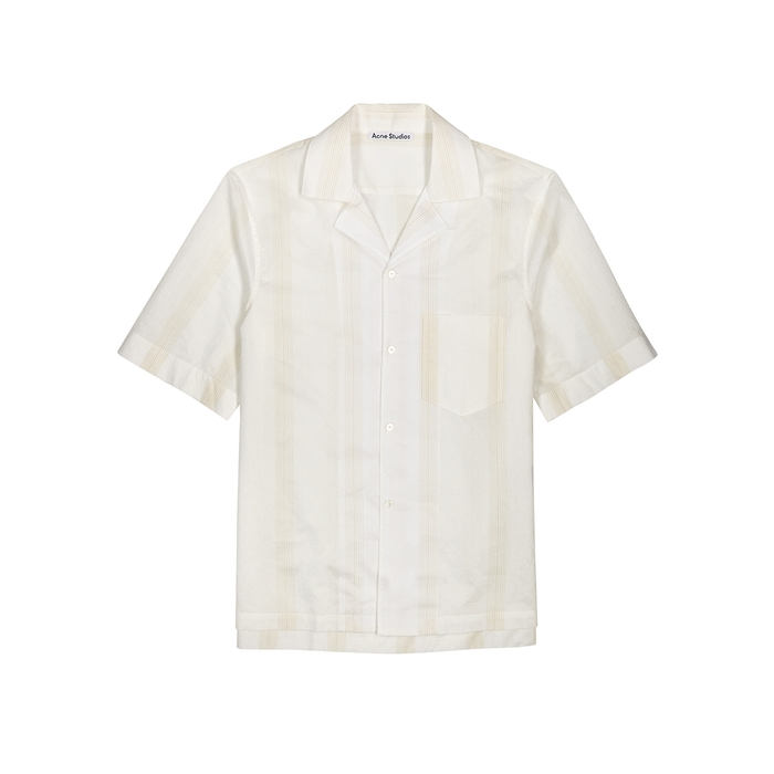 Acne Studios Cottons SIMON WHITE COTTON-BLEND SHIRT