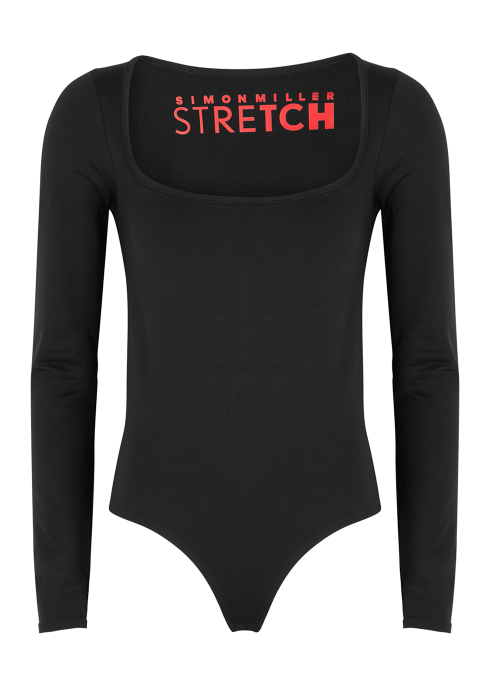 Rohe black stretch-nylon bodysuit