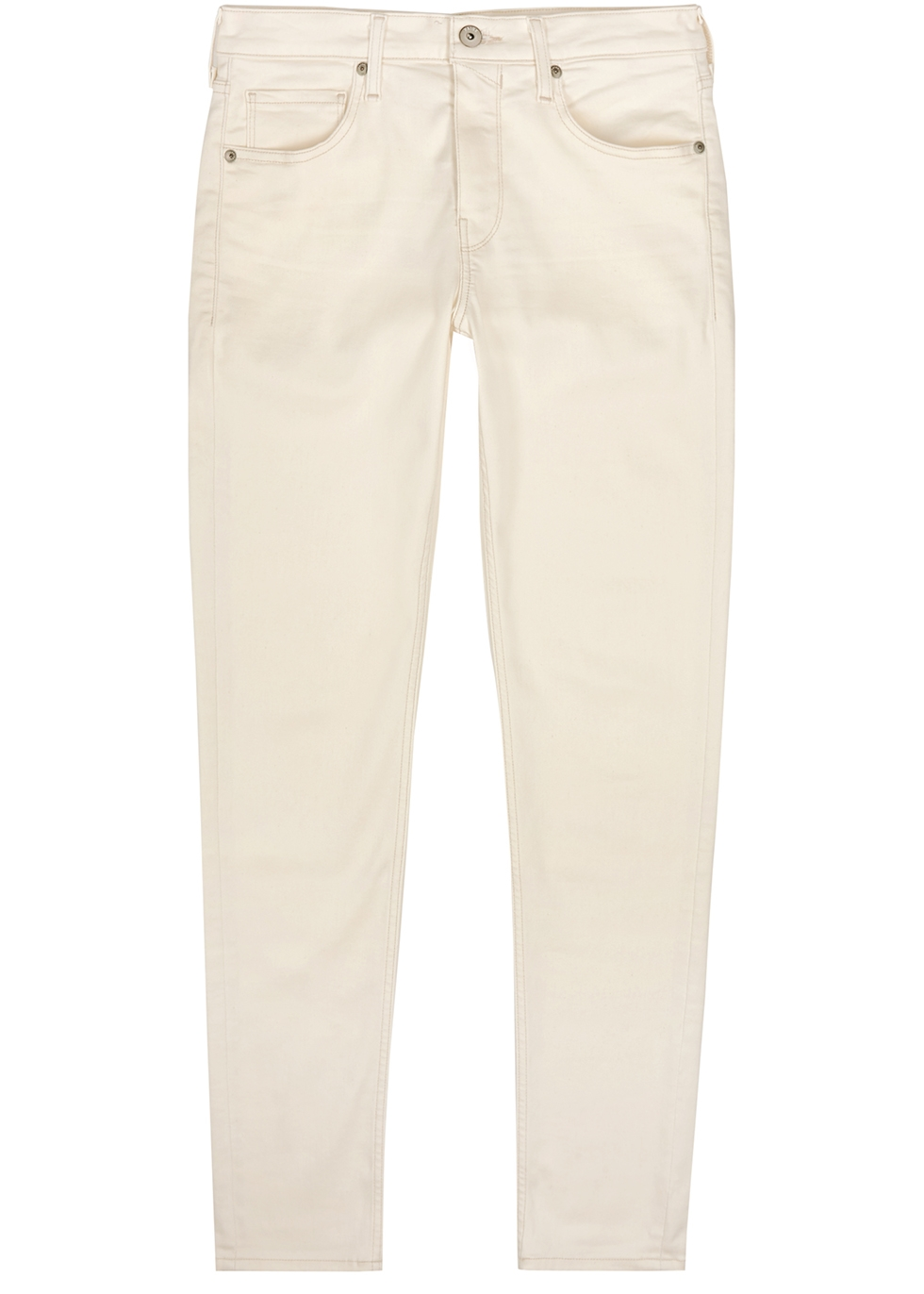 Croft Transcend off-white skinny jeans