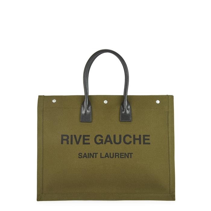 SAINT LAURENT RIVE GAUCHE PRINTED CANVAS TOTE