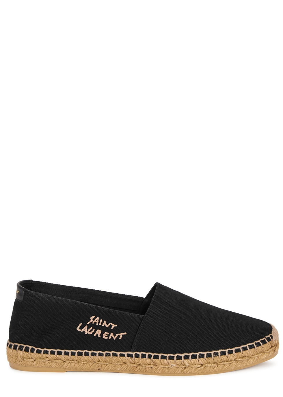 Black logo canvas espadrilles