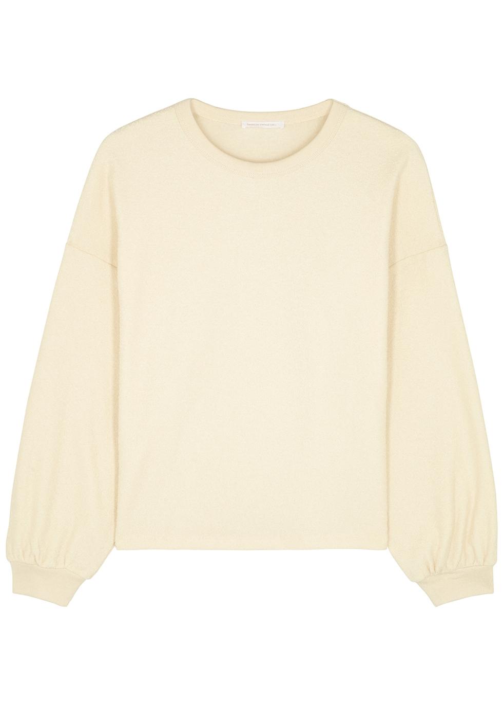 Bobypark off-white terry cotton sweatshirt