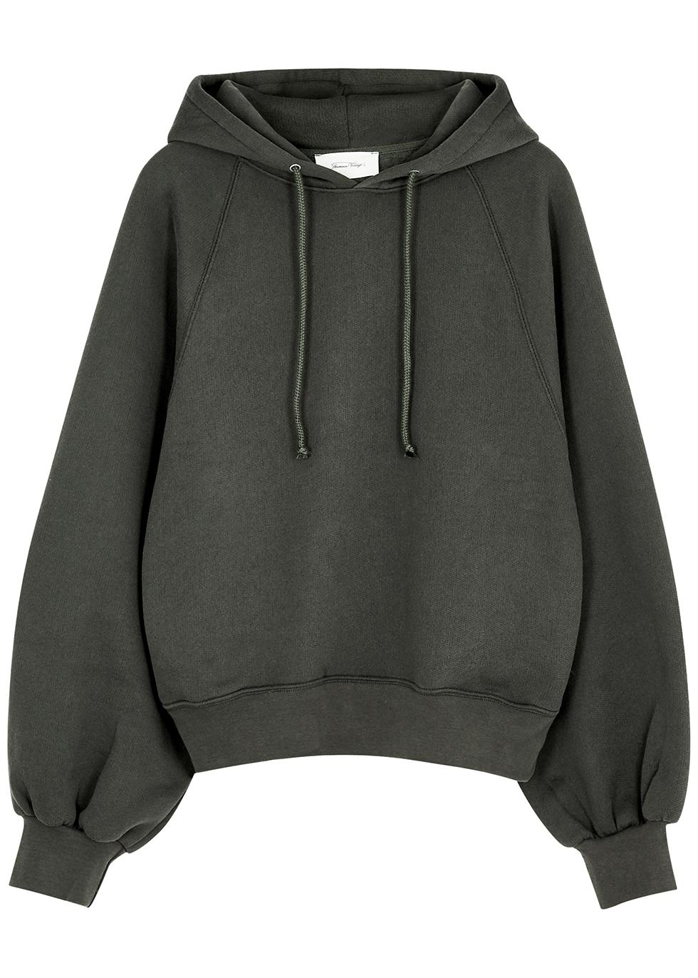 Ikatown grey hooded cotton-blend sweatshirt