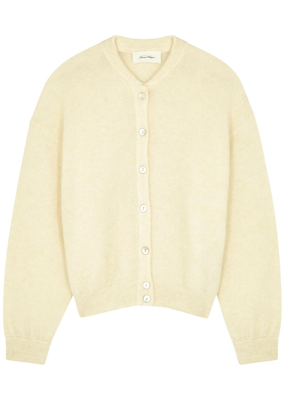 Zabidoo cream knitted cardigan